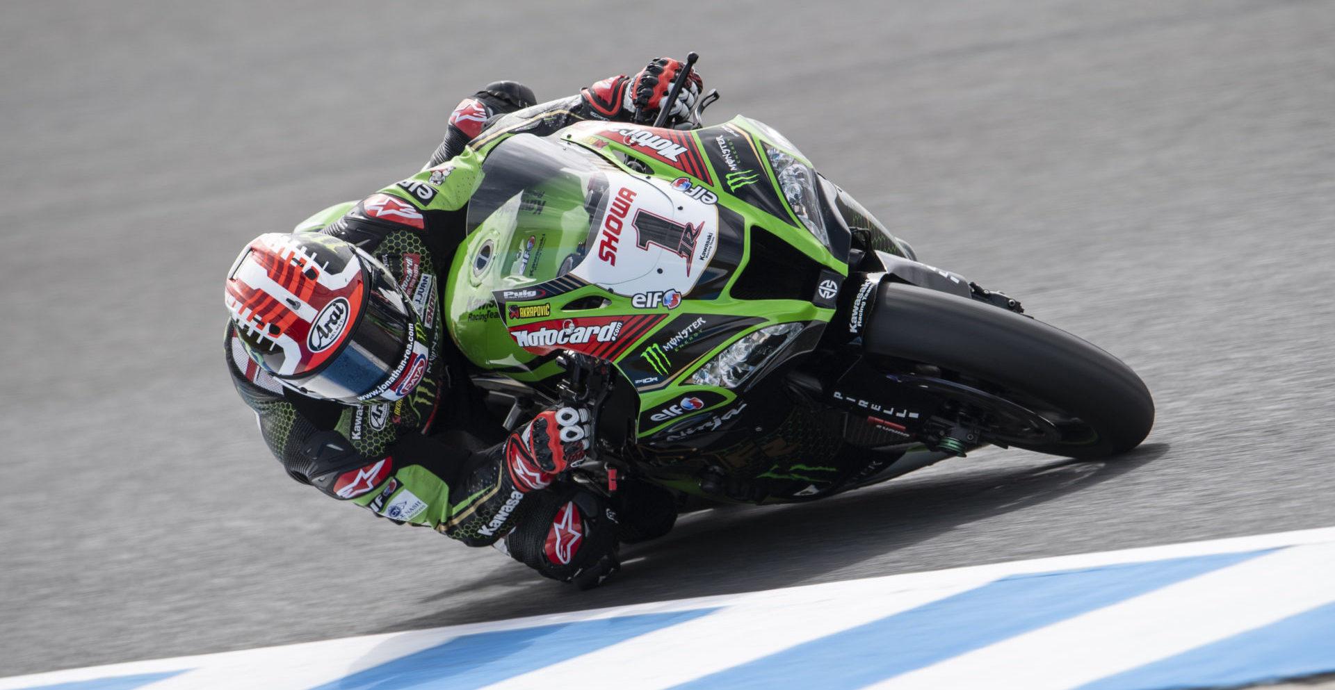 Jonathan Rea (1). Photo courtesy Kawasaki Racing Team.