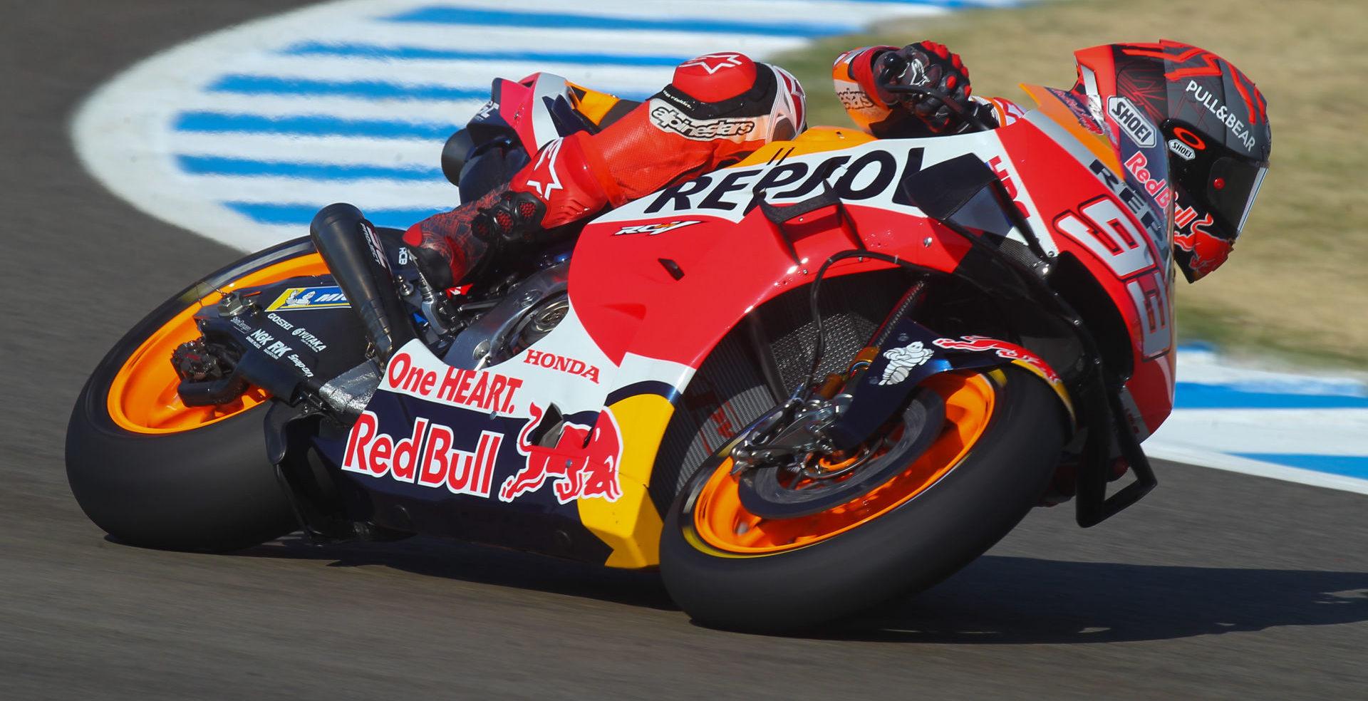 Motogp How Marc Marquez Might Race Next Weekend Roadracing World Magazine Motorcycle Riding Racing Tech News