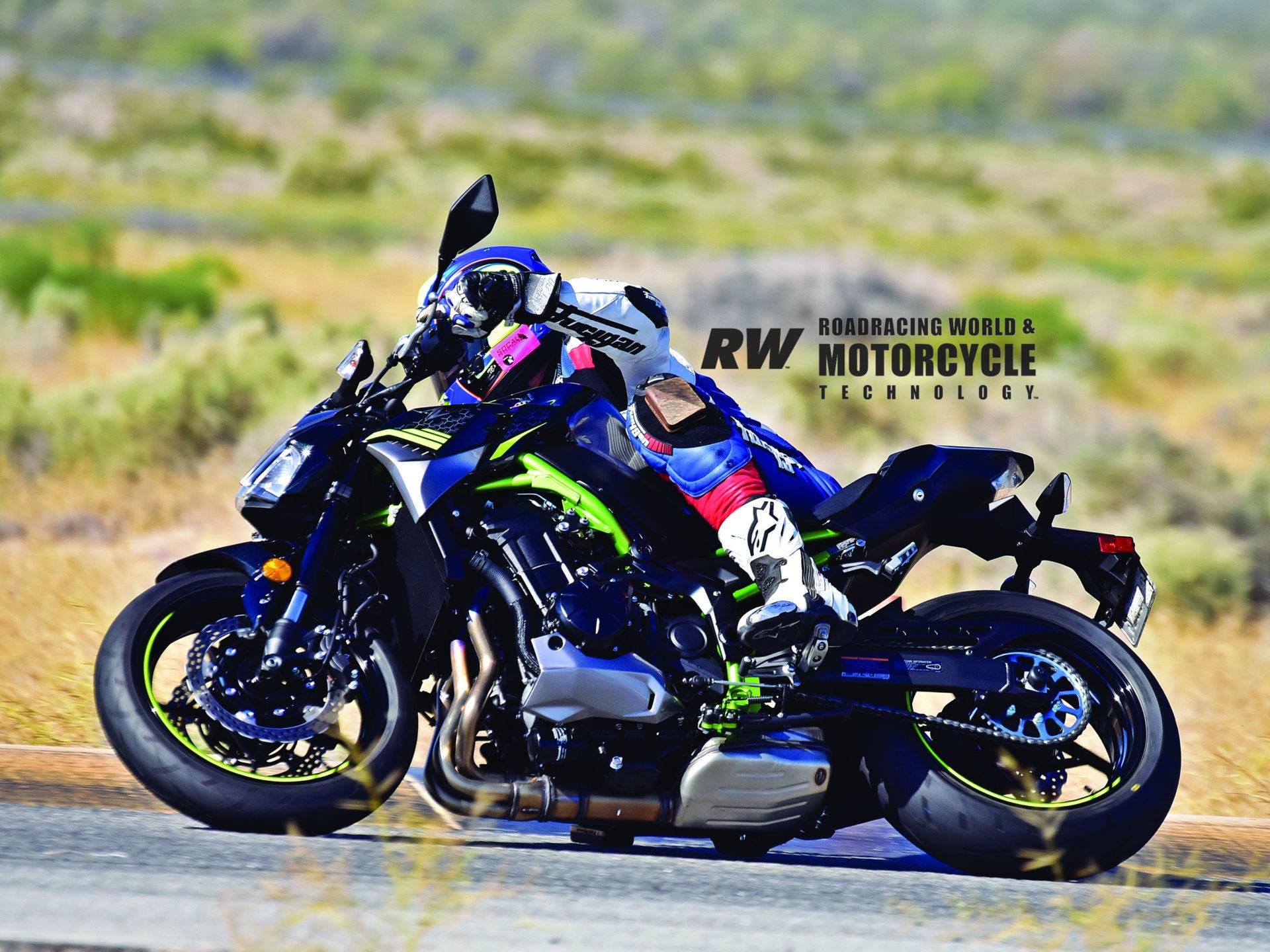 The Kawasaki Z900 has enough power to be entertaining. Chris Ulrich demonstrates. Photos by Michael Gougis.