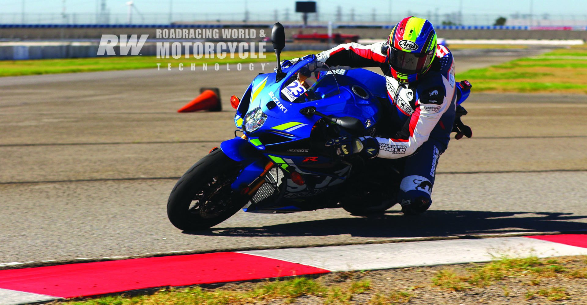 Chris Ulrich aboard a Suzuki GSX-R1000 fitted with Pirelli Diablo Supercorsa TD tires during a Fastrack Riders day at Auto Club Speedway. Photo by Caliphotography.com.