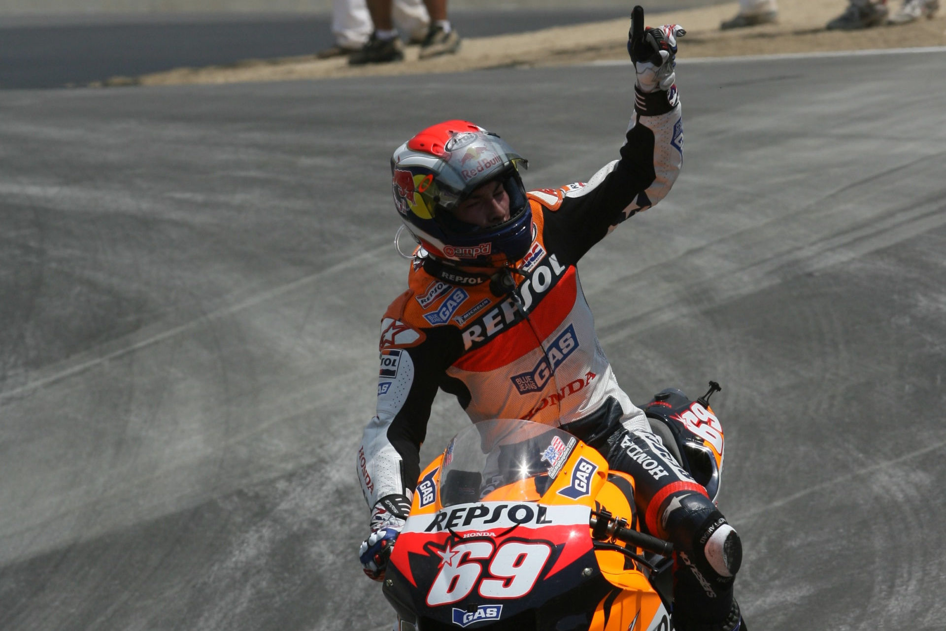 The late Nicky Hayden at the U.S. Grand Prix at Laguna Seca in 2005. Photo by Brian J. Nelson.