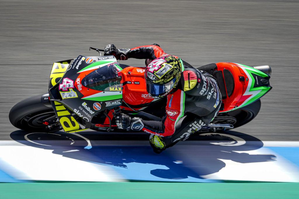 Aleix Espargaro (41). Photo courtesy Aprilia Gresini Racing.