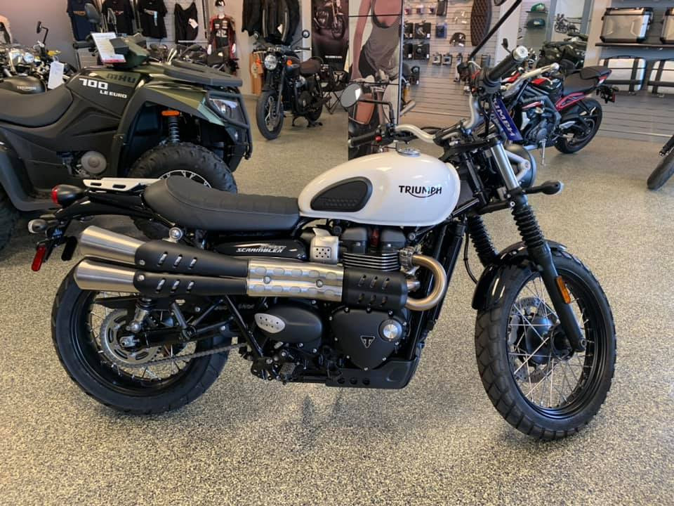 A Triumph streetbike on the showroom floor at D&D Cycles, in Pensacola, Florida. Photo courtesy D&D Cycles.