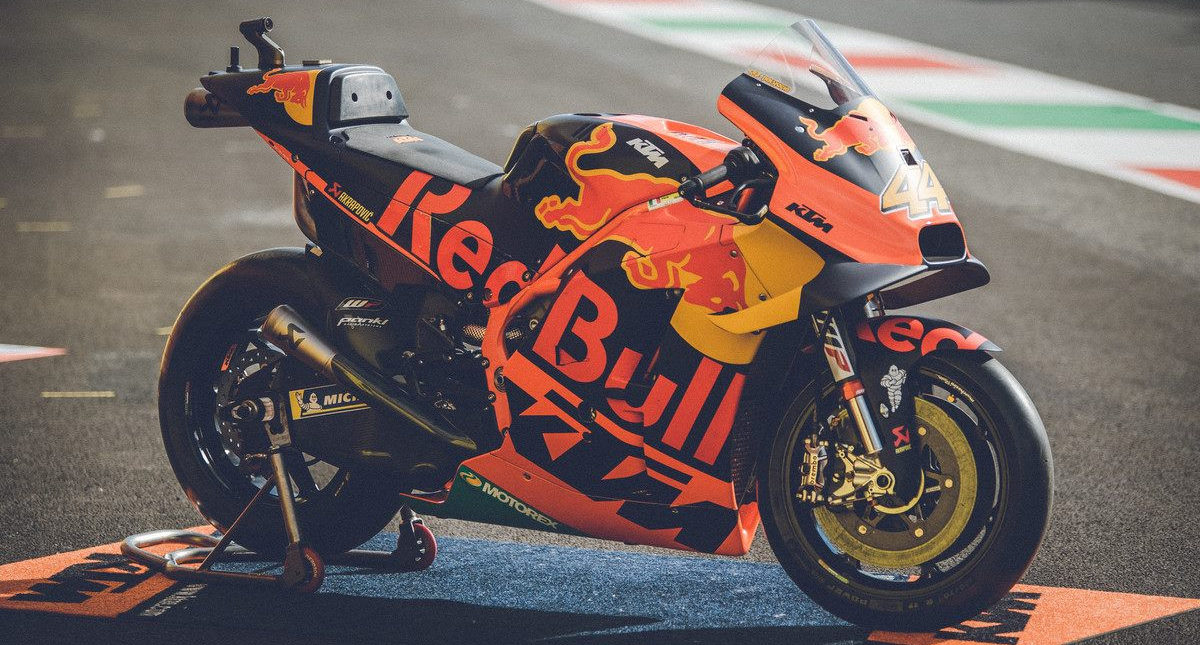 One of Pol Espargaro's Red Bull KTM RC16 MotoGP racebikes. Photo courtesy KTM.