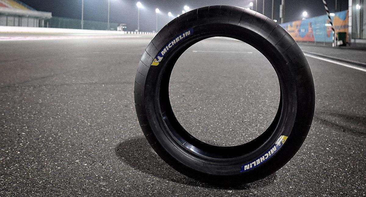 Michelin's new Power Slick rear tire for MotoGP. Photo courtesy Michelin.