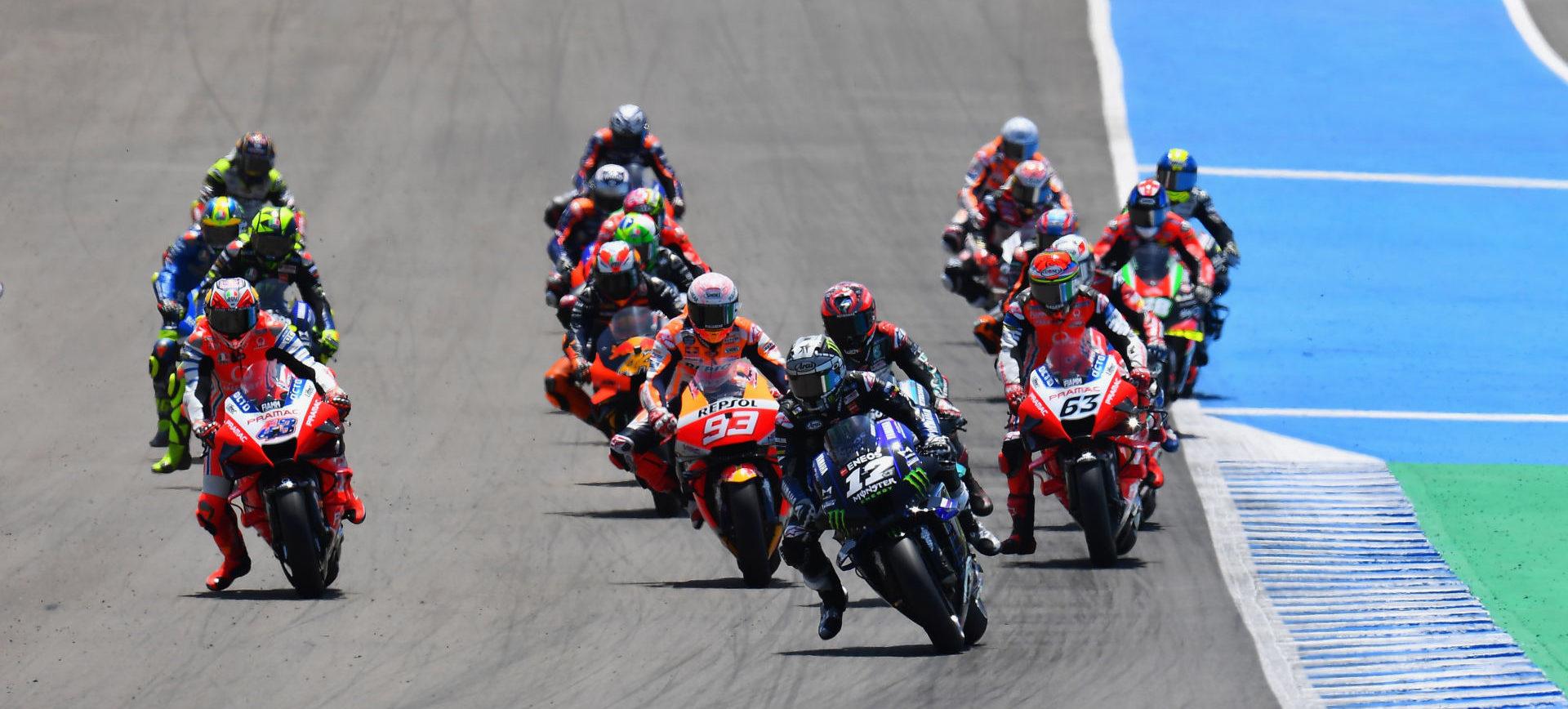The start of the Spanish Grand Prix at Jerez. Photo courtesy Michelin.