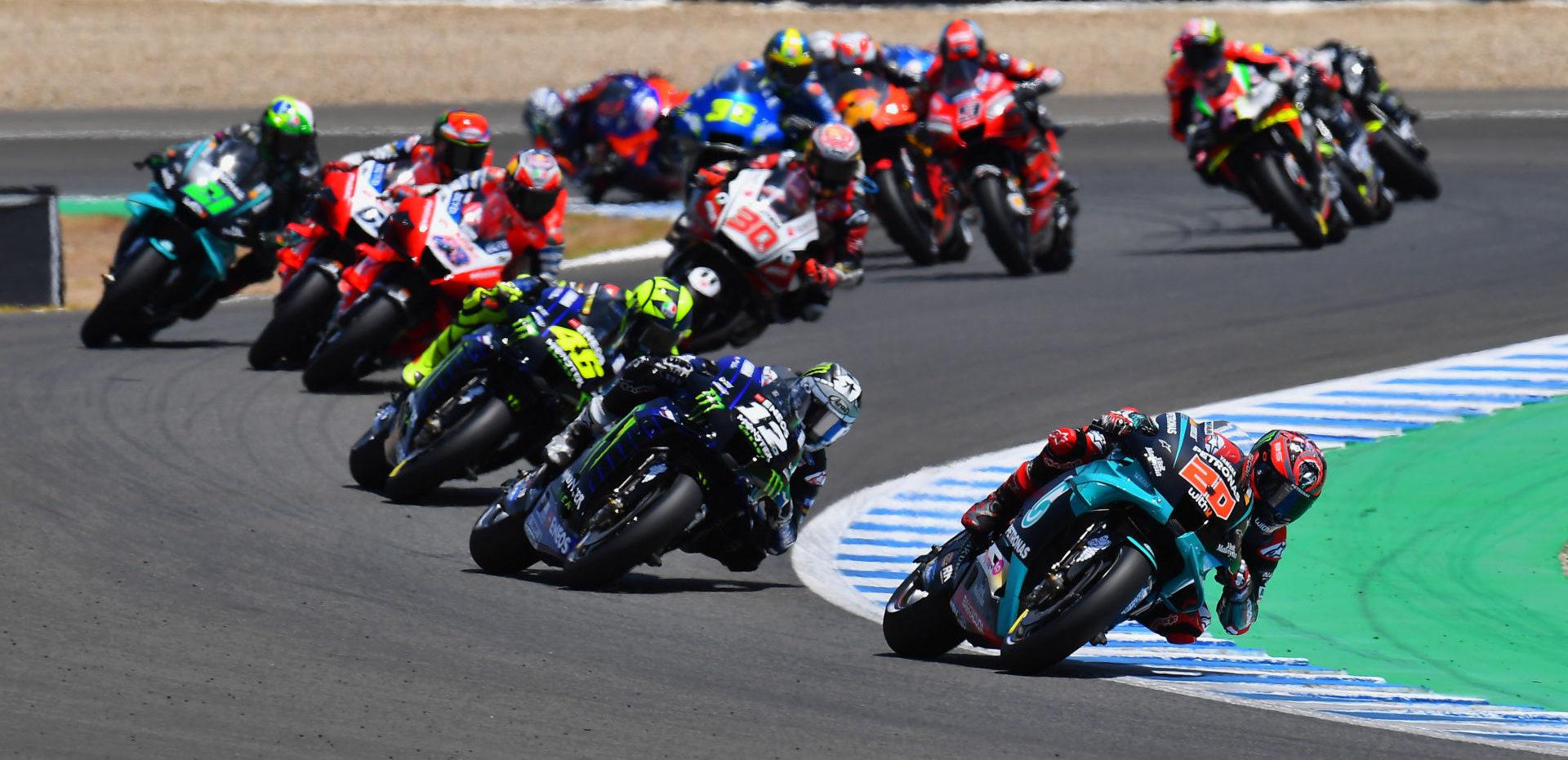 The start of the MotoGP race at Jerez II. Photo courtesy Michelin.