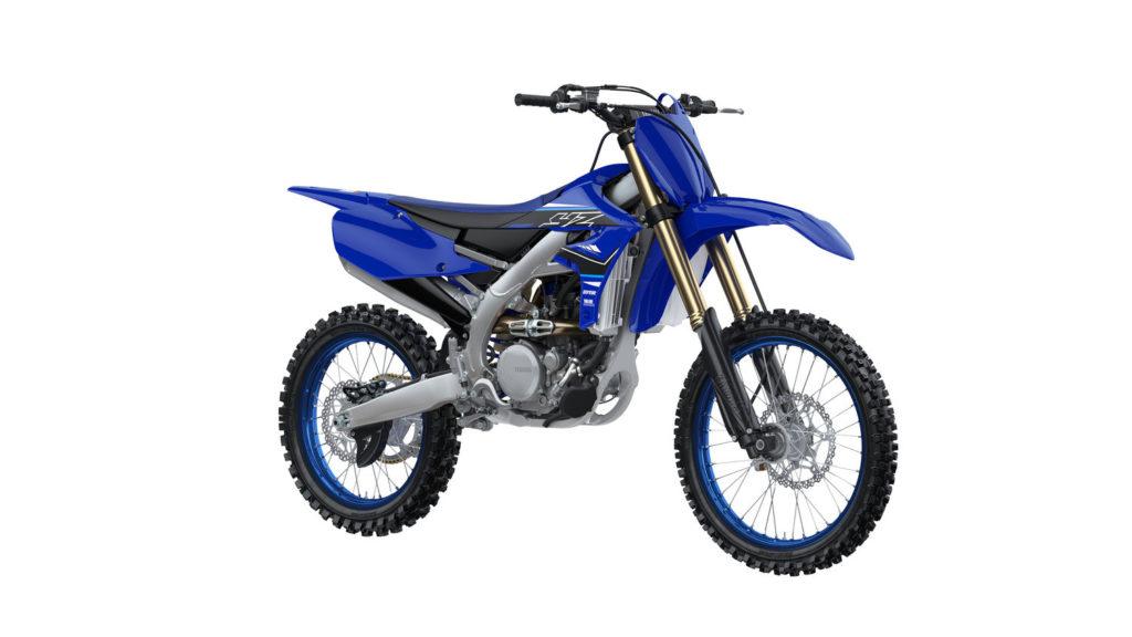A 2021-model YZ250F in Team Yamaha Blue. Photo courtesy Yamaha Motor Corp., U.S.A.