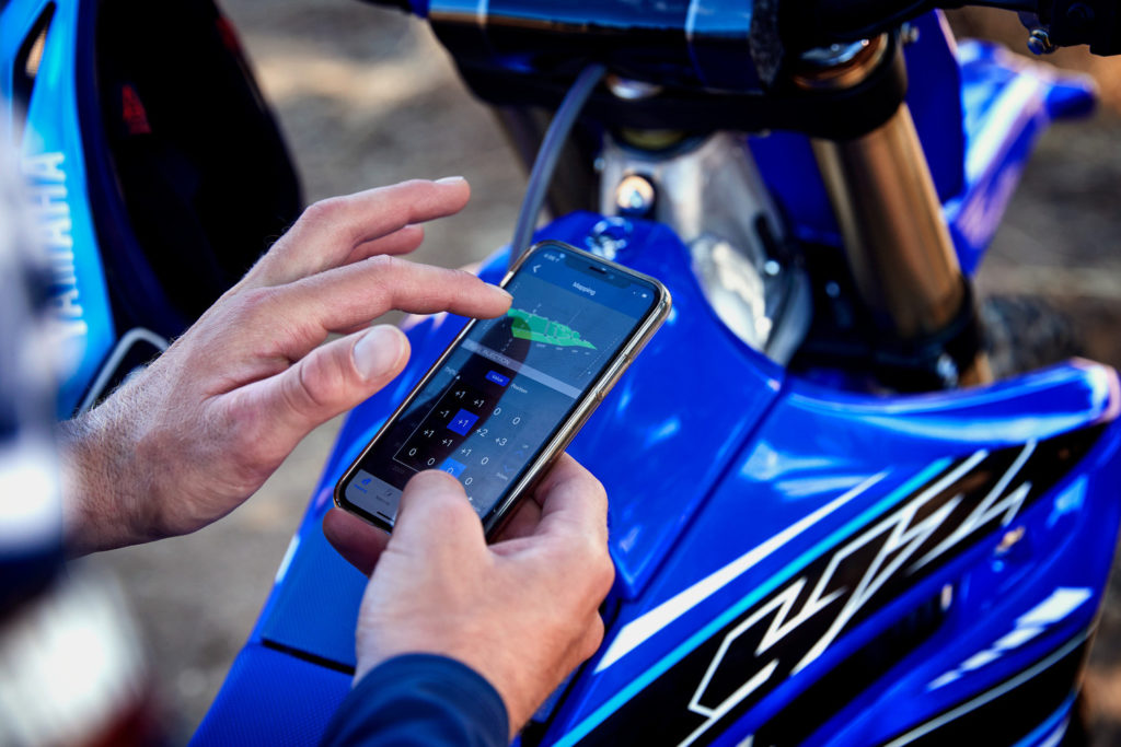 Owners can tune their 2021 Yamaha YZs using a free smart phone app.  Photo courtesy Yamaha Motor Corp., U.S.A.