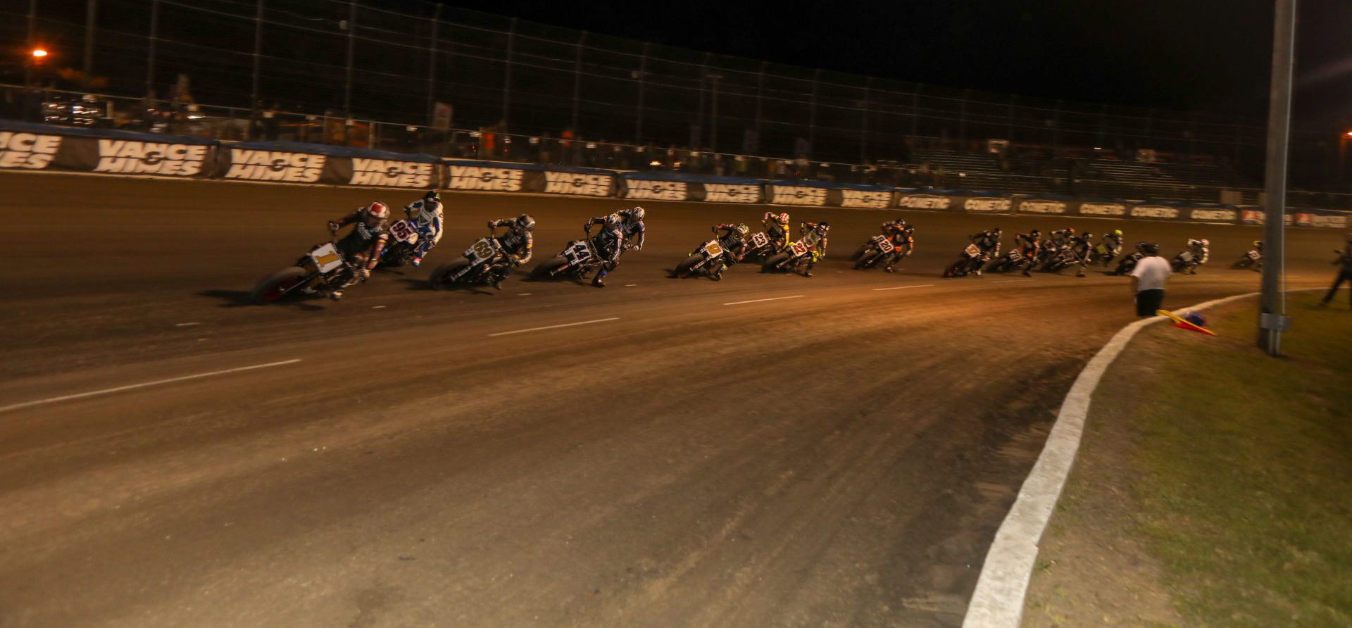 The start of the AFT SuperTwins main event at the Volusia Half-Mile II. Photo by Scott Hunter, courtesy AFT.