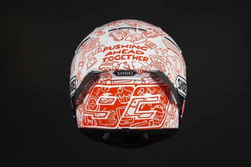 The custom helmet Marc Marquez will wear at Jerez. Photo courtesy Repsol Honda.
