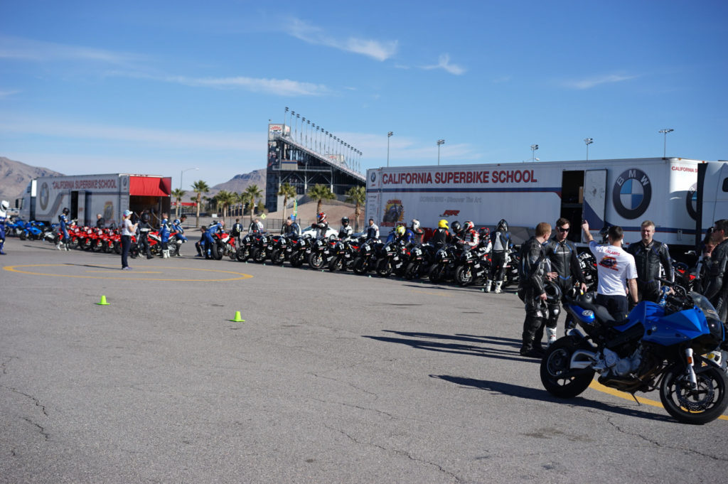 A scene from a California Superbike School prior to the COVID-19 pandemic. Photo by etechphoto.com, courtesy California Superbike School.