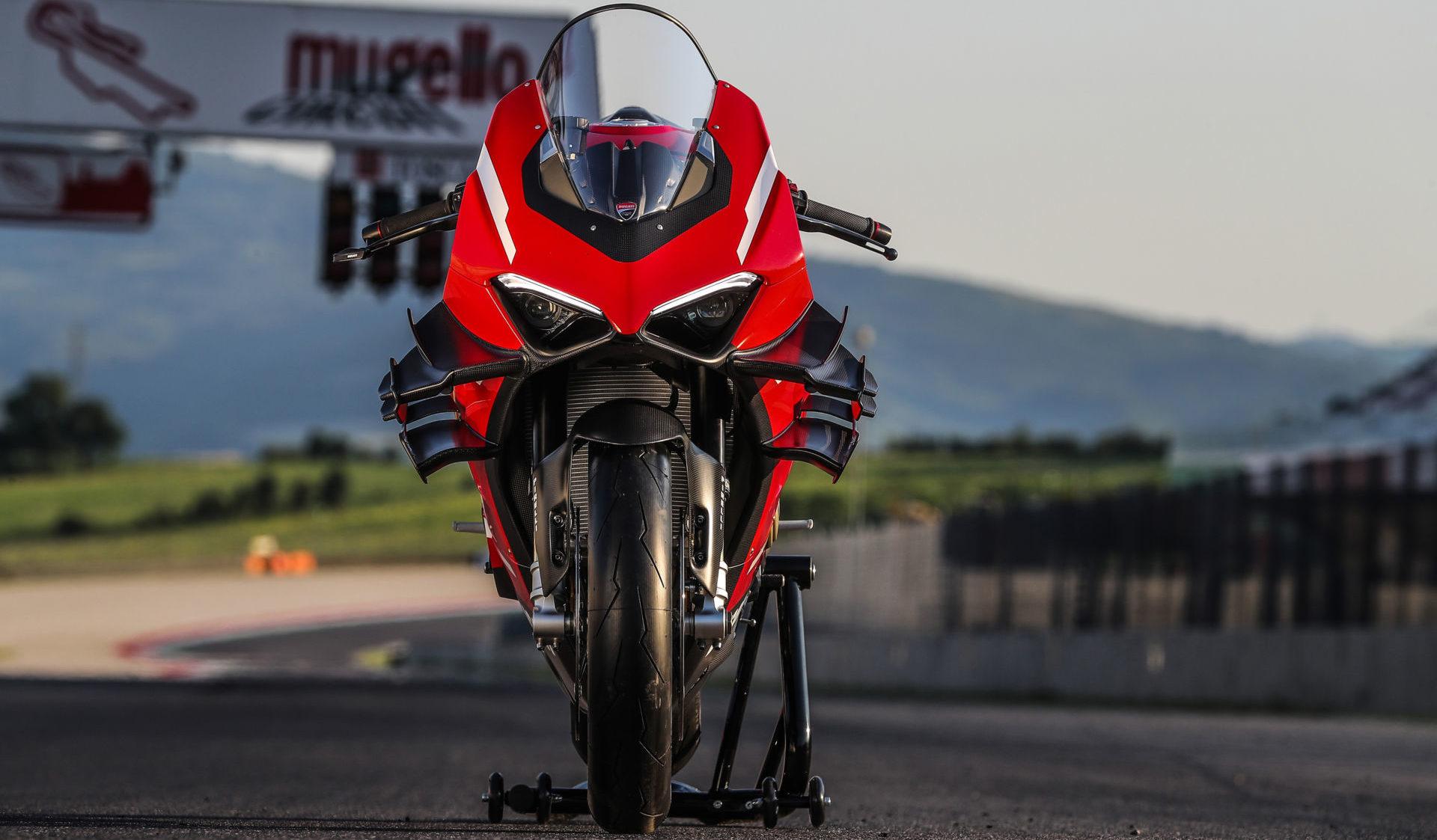 A Ducati Superleggra V4 at Mugello. Photo courtesy Ducati.
