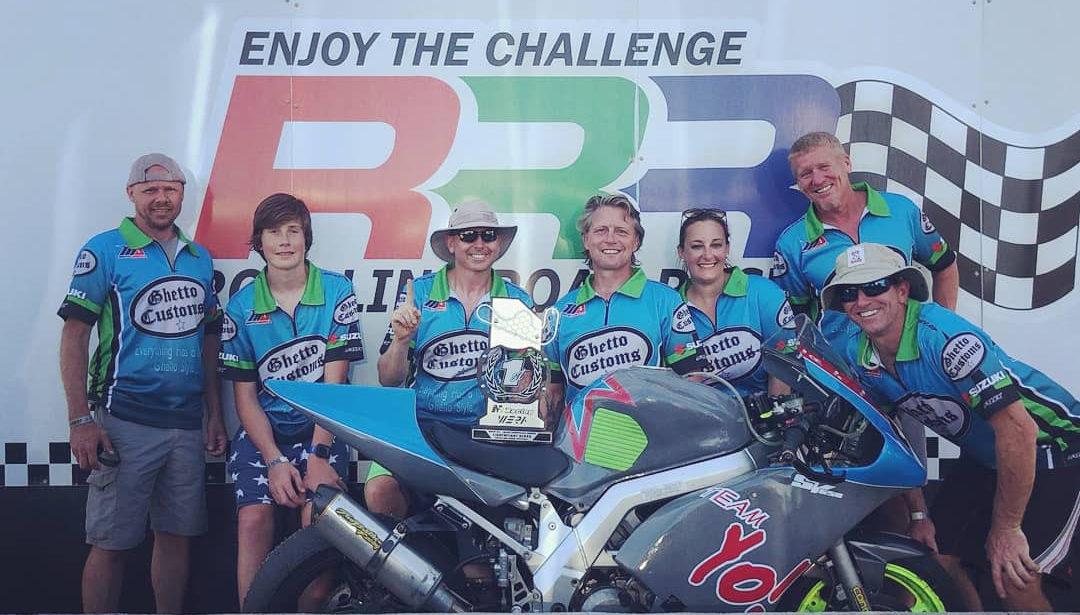 Team Yo! (from left): Jeff Hicks, Brogan Richards, Keith Buras, Chris Parrish, Beth Braun, Darren Crooks, and Travis Richards.