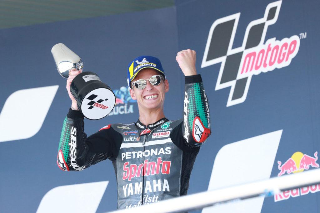 Fabio Quartararo. Photo courtesy PETRONAS Yamaha SRT.