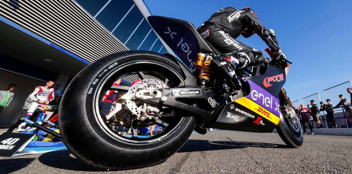 The FIM MotoE World Cup returns for a second season starting July 17-19 at Jerez. Photo courtesy Energica.