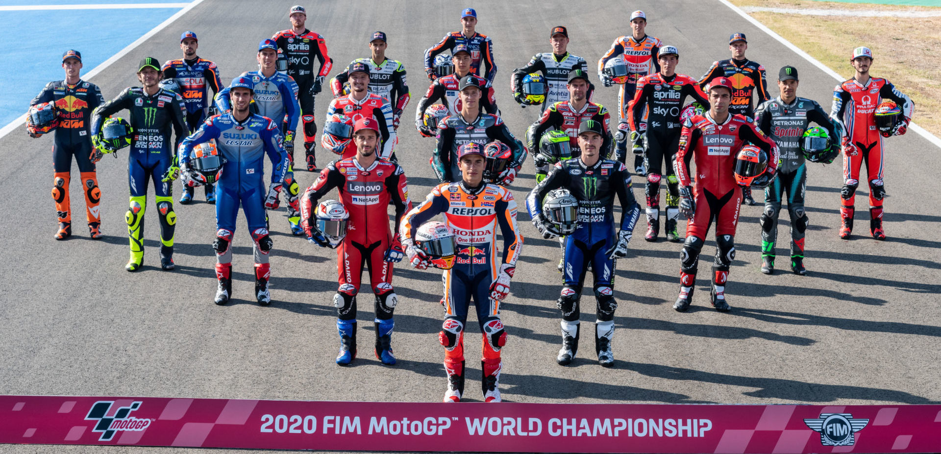 The 2020 FIM MotoGP World Championship field. Photo courtesy Dorna.