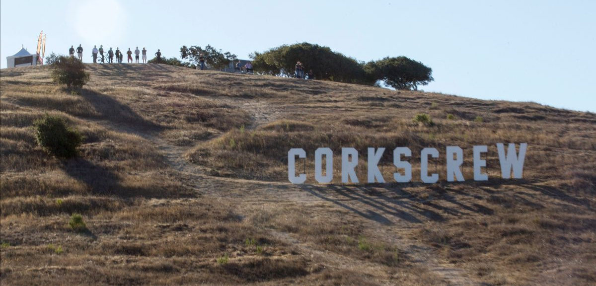 Hillclimbers will attempt to tame the hill that houses the famous Corkscrew at WeatherTech Raceway Laguna Seca as part of the MotoAmerica Superbike Speedfest at Monterey, October 23-25. Photo courtesy WeatherTech Raceway Laguna Seca.