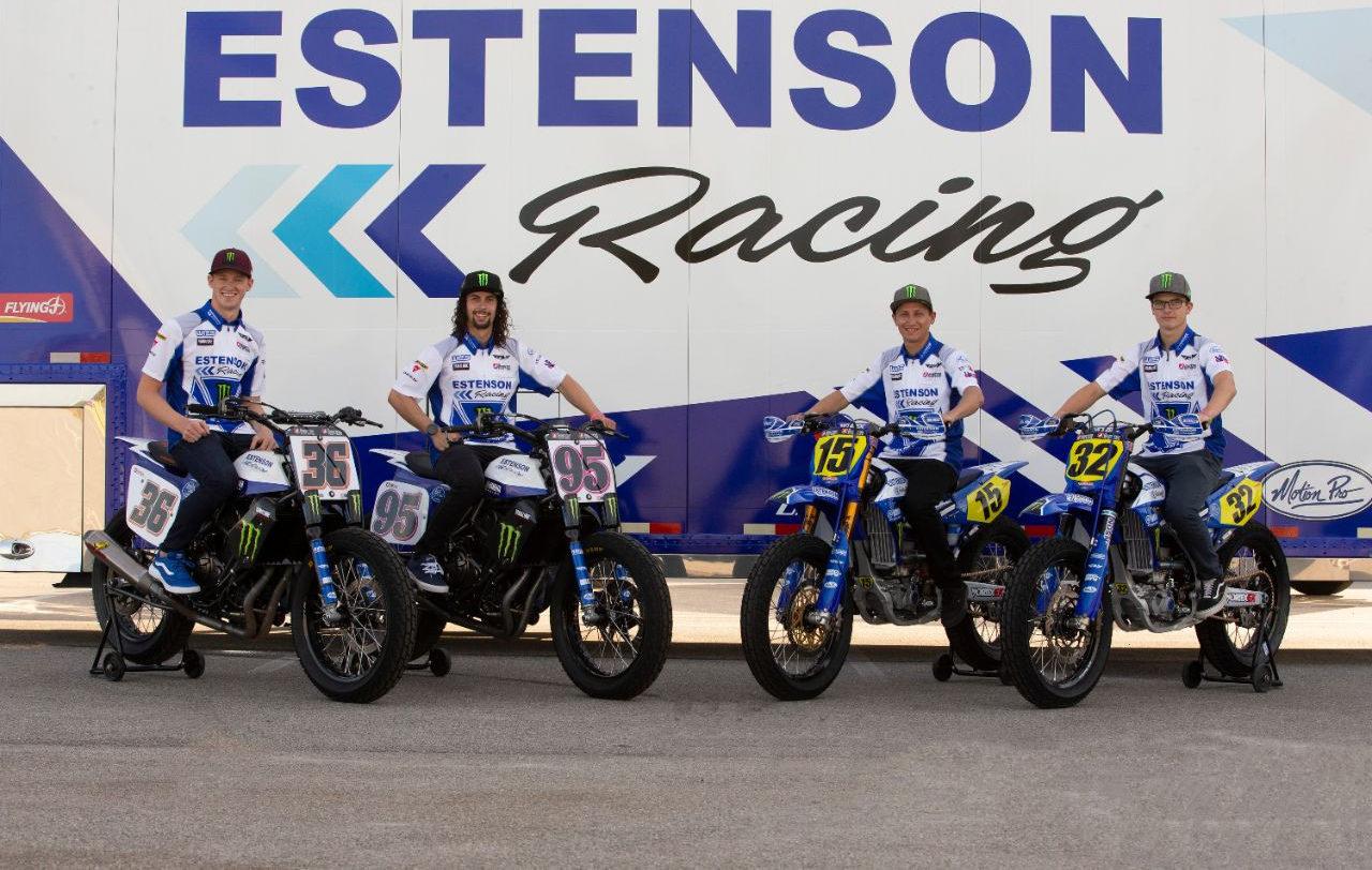 Estenson Racing's Kolby Carlile (36), JD Beach (95), Mikey Rush (15), and Dallas Daniels (32). Photo courtesy Estenson Yamaha.