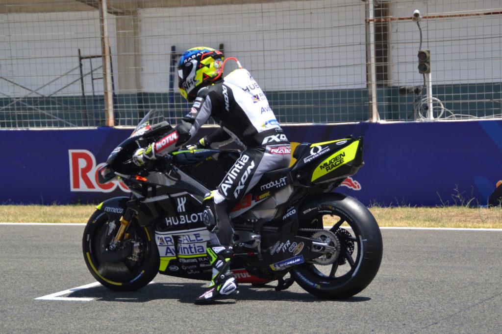 Tito Rabat on the grid at Jerez. Photo courtesy Avintia Racing.
