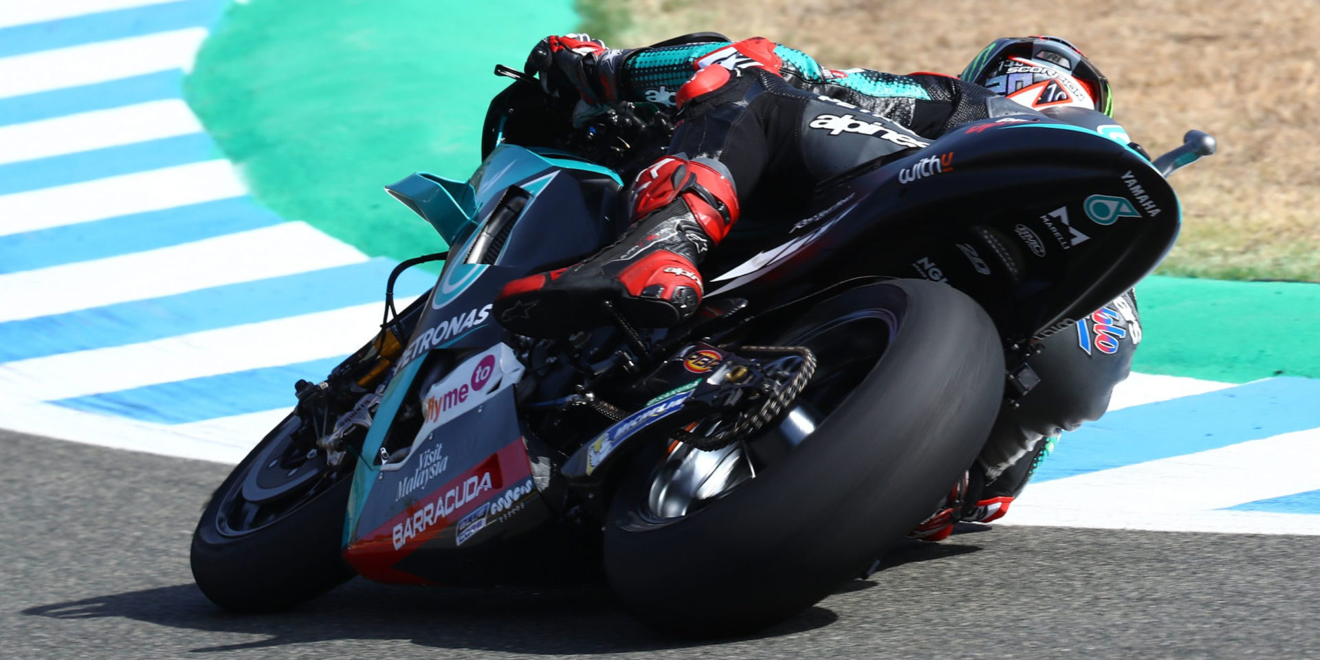 Fabio Quartararo in action at Jerez. Photo courtesy PETRONAS Yamaha SRT.