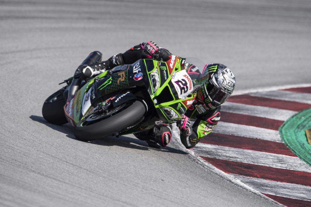 Alex Lowes (22) testing at Catalunya. Photo courtesy Kawasaki.