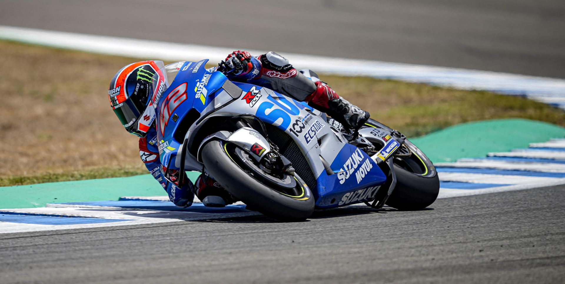 Alex Rins (42). Photo courtesy Team Suzuki Press Office.