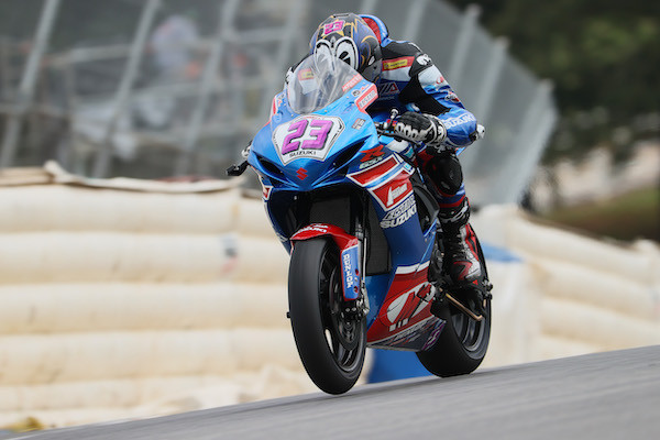 Lucas Silva (23) notched a pair of sixth place finishes in Atlanta. Photo courtesy Suzuki Motor of America, Inc.