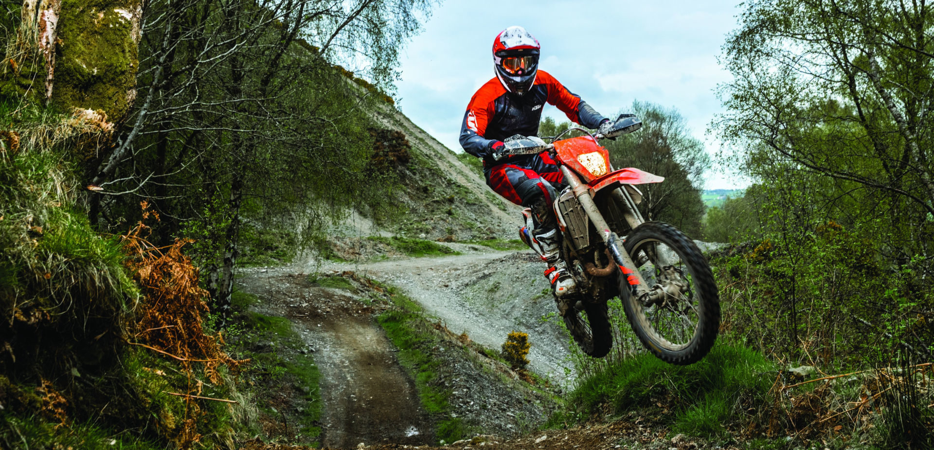 A KTM 450 EXC-F in action. Photo courtesy KTM.