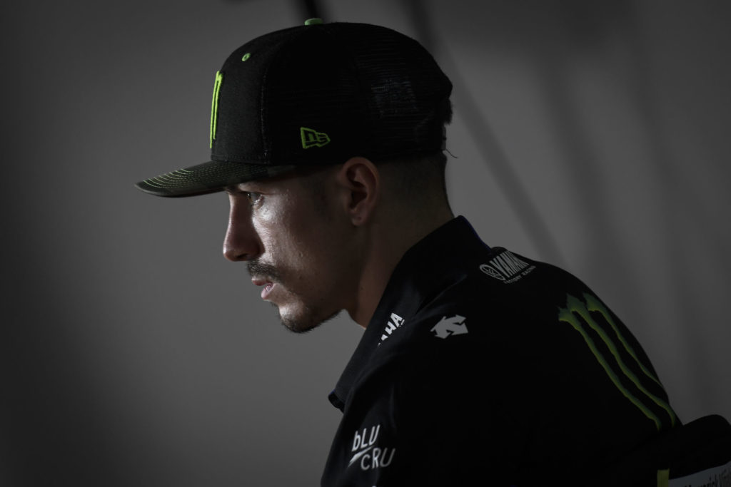 Maverick Vinales at Thursday's pre-event press conference at Brno. Photo courtesy Dorna.