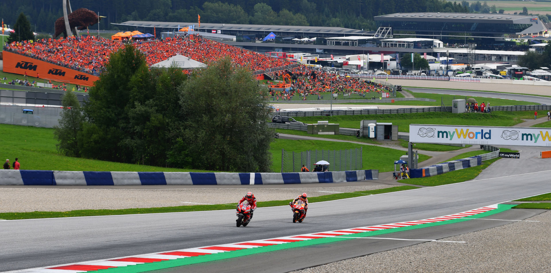 A scene from the MotoGP race at Red Bull Ring in 2019. Photo courtesy Michelin.