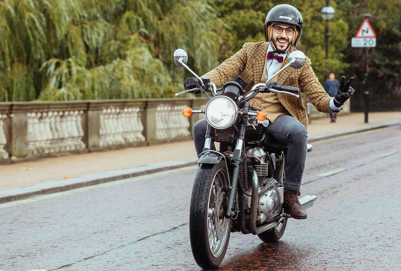A Distinguished Gentlemen's Ride participant. Photo courtesy Triumph.
