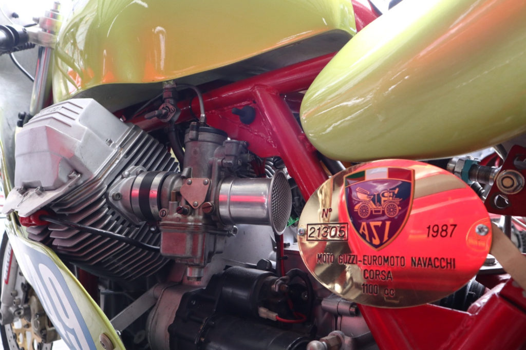 A Moto Guzzi motorcycle. Photo courtesy Elena Bagnasco.