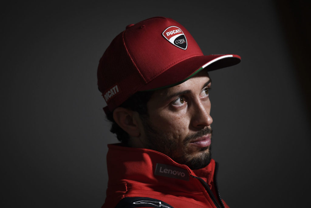 Andrea Dovizioso at Thursday's pre-event press conference at Brno. Photo courtesy Dorna.