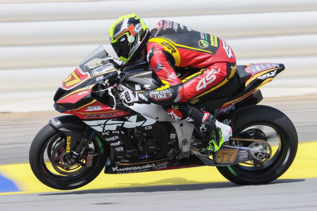 Bradley Ward (57) at speed at Road Atlanta. Photo courtesy Bradley Ward Racing.