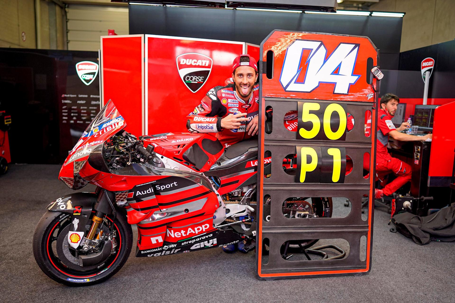 Andrea Dovizioso. Photo courtesy Ducati.