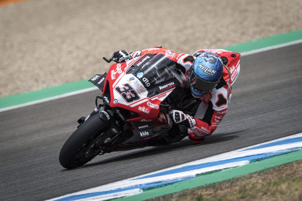 Marco Melandri (33). Photo courtesy Barni Racing Team.