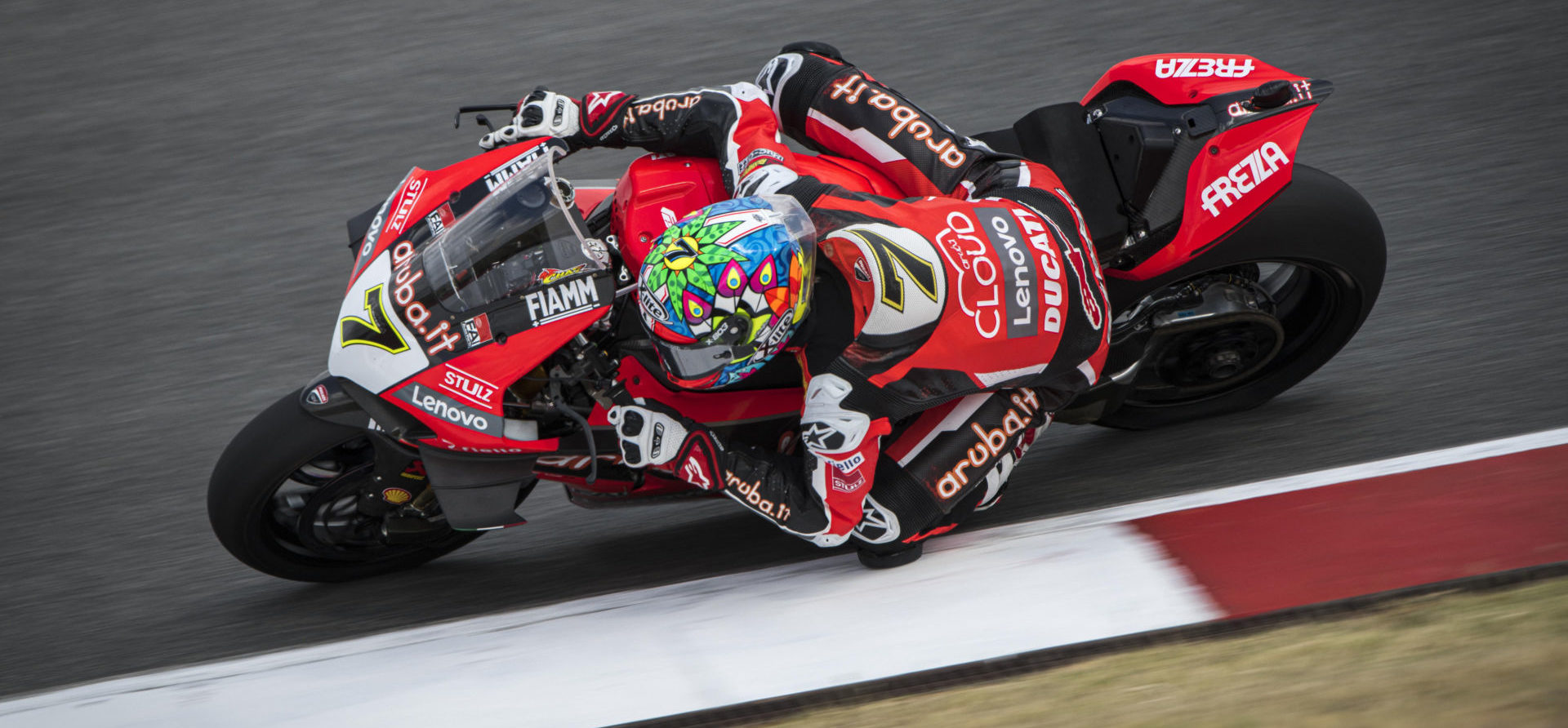 Chaz Davies (7). Photo courtesy Ducati.