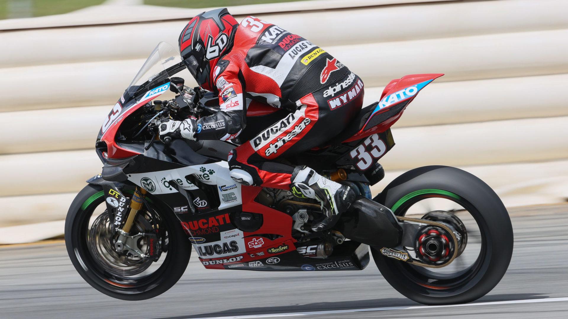 Kyle Wyman (33). Photo courtesy KWR Ducati.