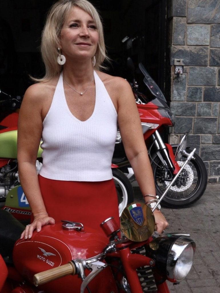 Elena Bagnasco, granddaughter of Moto Guzzi co-founder Giorgio Parodi.