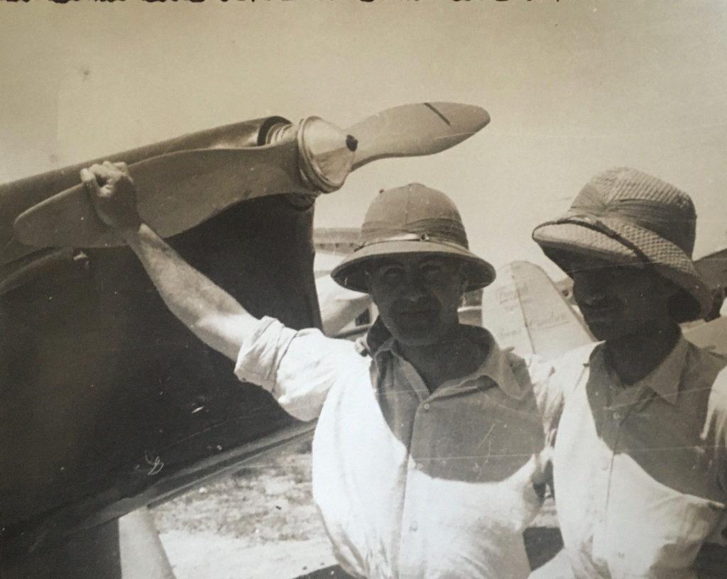 A historic photo of Giorgio Parodi during a trip to Africa.