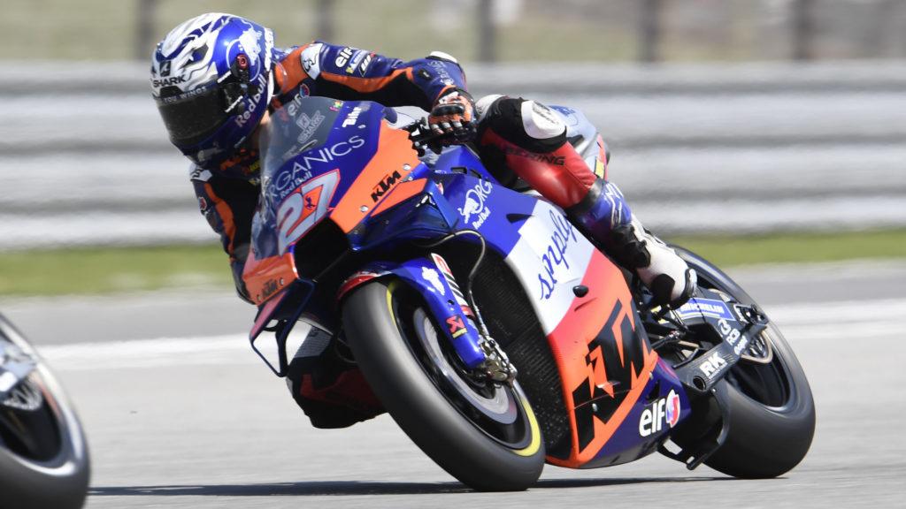 Iker Lecuona (27) . Photo courtesy Red Bull KTM Tech3.