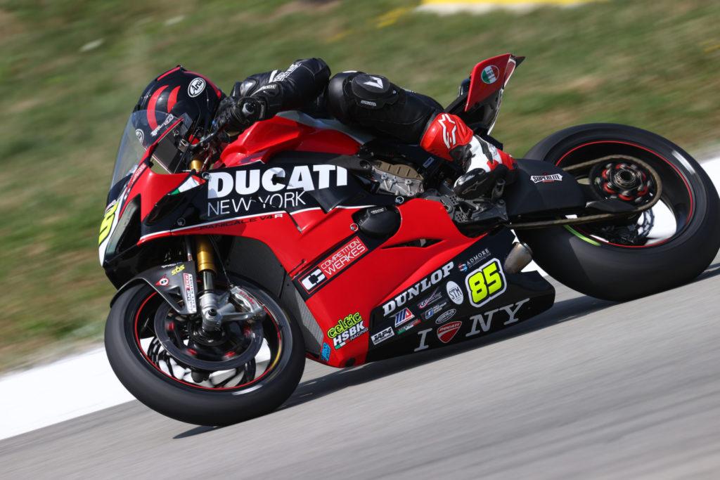 Jake Lewis (85). Photo courtesy Ducati North America.