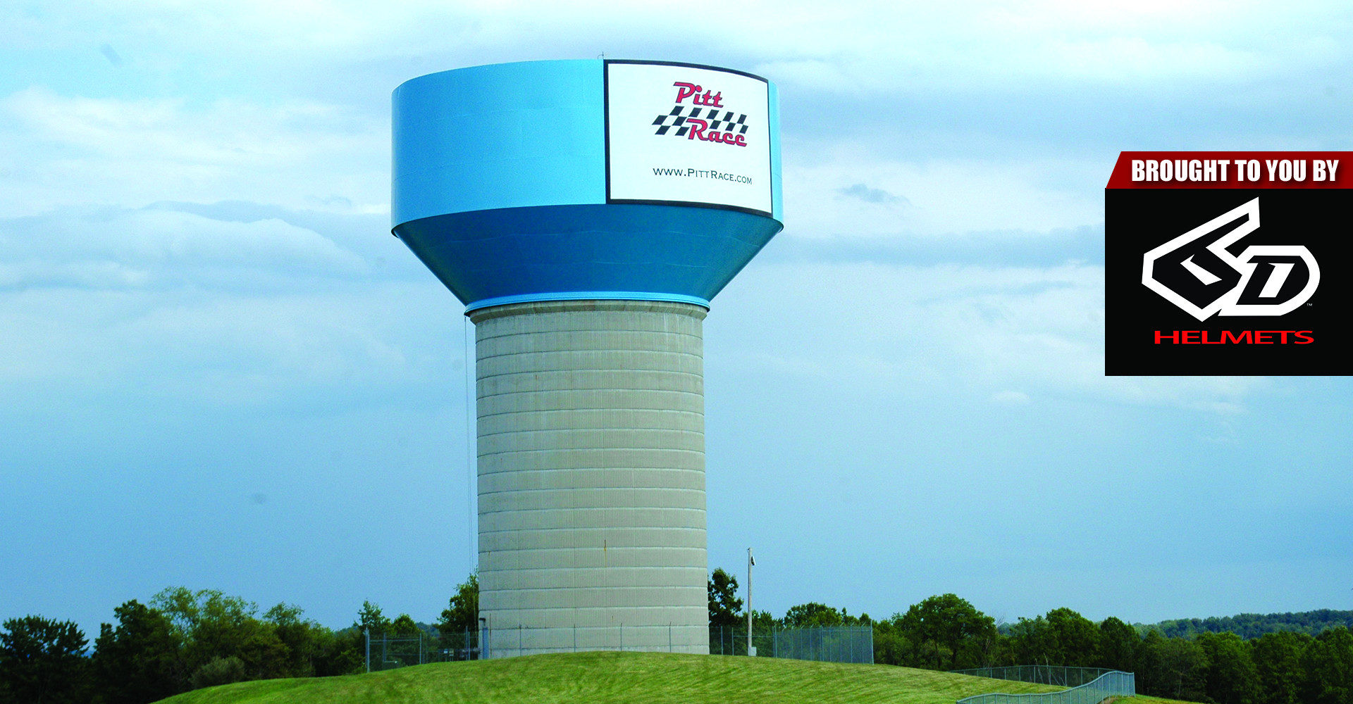 The iconic water tower at Pittsburgh International Race Complex. Photo by David Swarts.