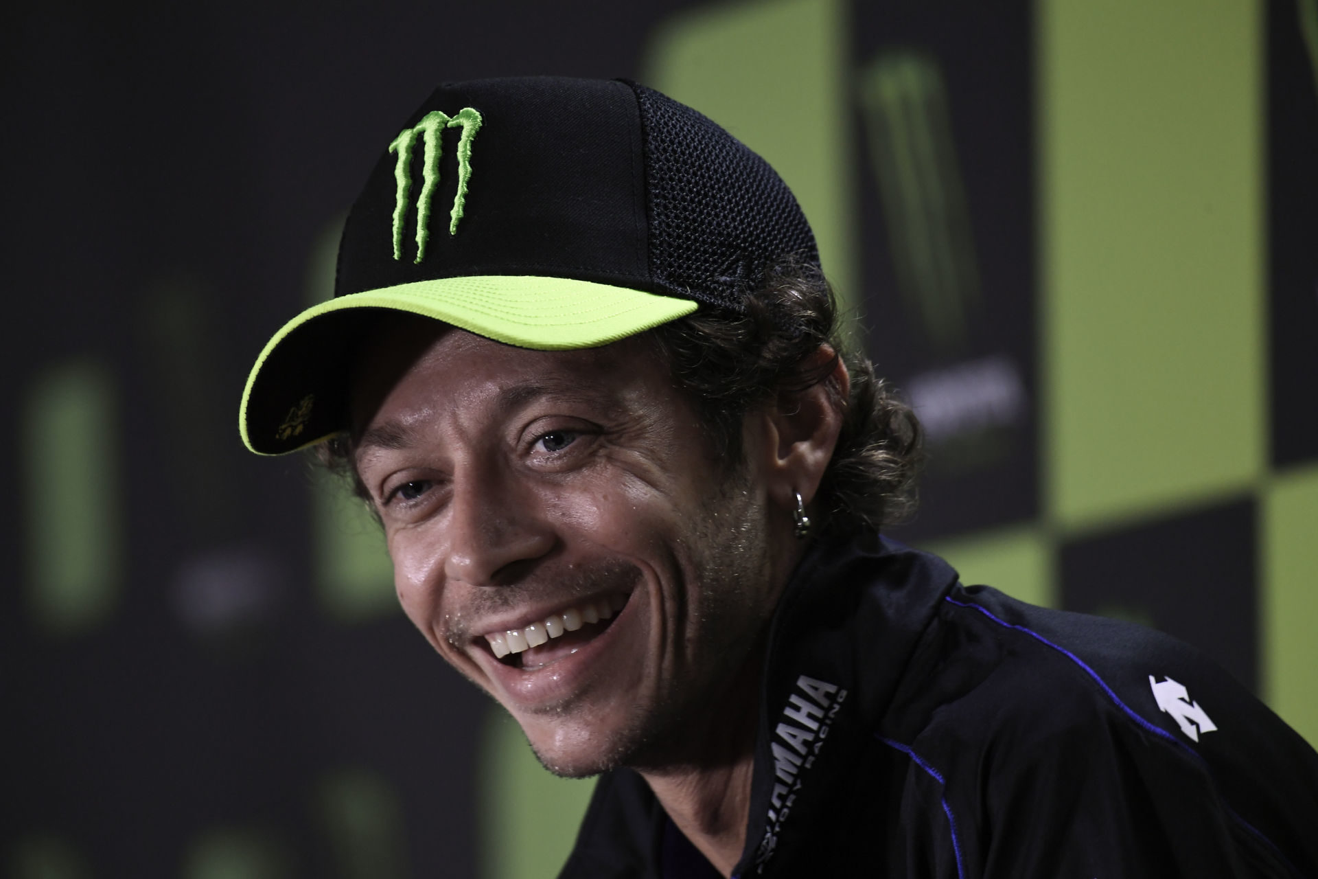 Valentino Rossi at Thursday's pre-event press conference at Brno. Photo courtesy Dorna.