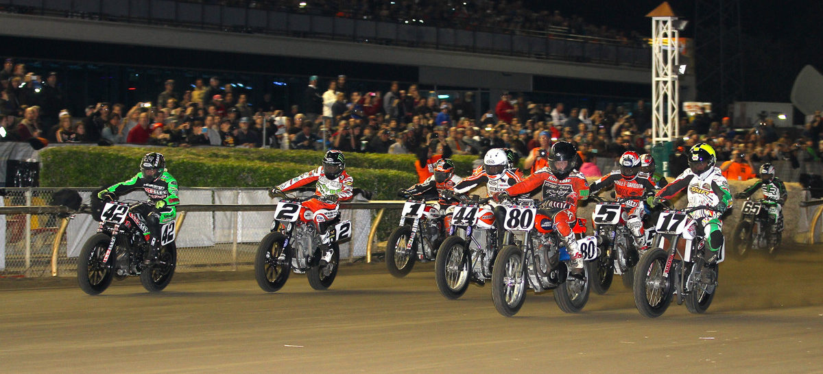 American Flat Track will race at the Indy Mile the same weekend, August 21-22, as the Indy 500. Photo courtesy AFT.