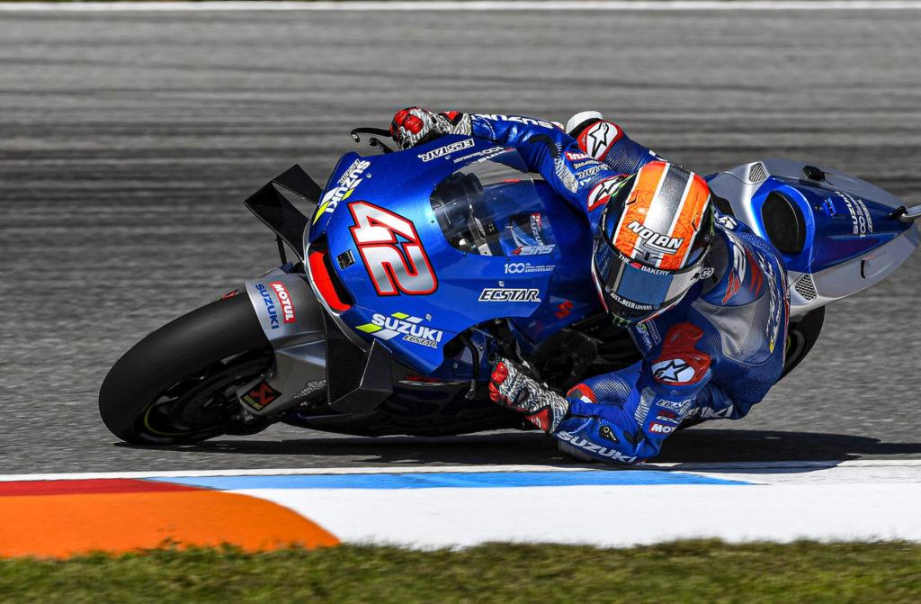 Alex Rins (42). Photo courtesy Team Suzuki ECSTAR.