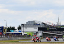 The start of the MotoGP race at Brno in 2019. Photo courtesy Michelin.