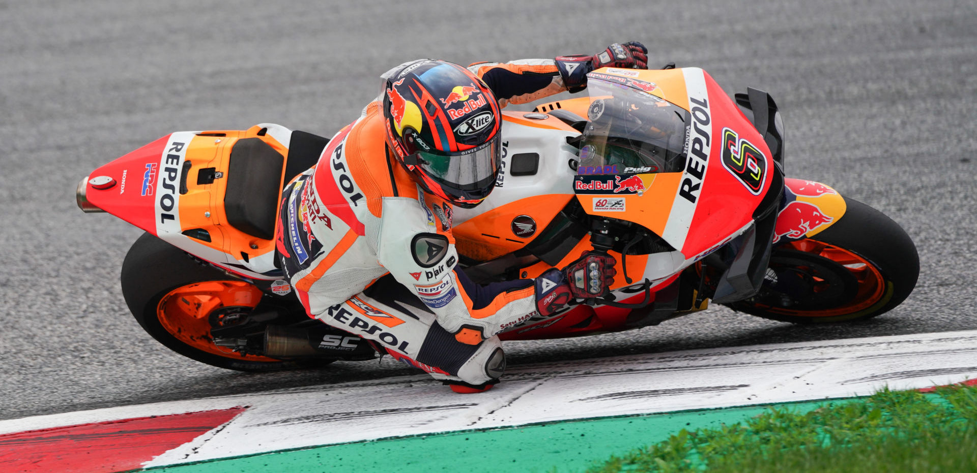 Stefan Bradl (6), as seen at the Red Bull Ring in 2019. Photo courtesy Repsol Honda.
