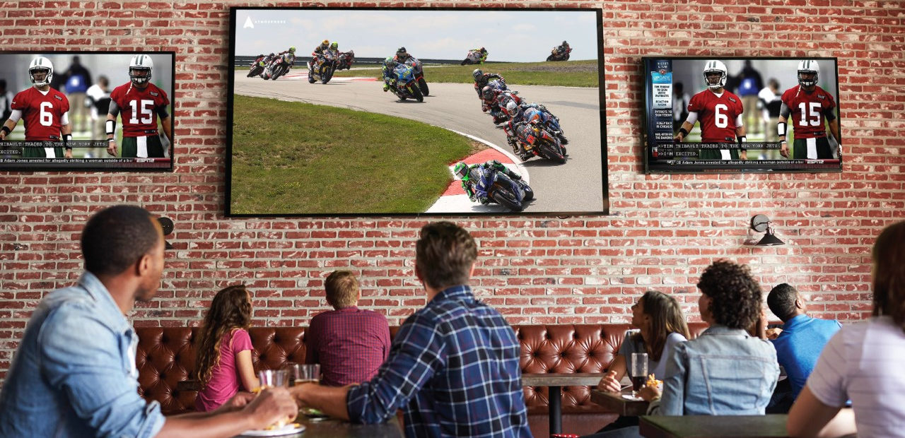 Soon you may be able to enjoy MotoAmerica racing action on a TV screen at a bar or restaurant. Image courtesy MotoAmerica.